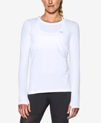 Under Armour Long Sleeve Heatgear Top White