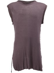 Di Liborio Sleeveless Long Top Pink And Purple