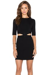 Endless Rose Cutout Short Sleeve Dress Black