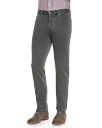 Isaia Five Pocket Slim Fit Denim Jeans Sage