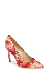 Sam Edelman Women's Hazel Pointy Toe Pump Pink Multi Fabric