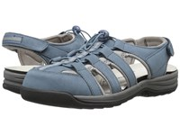 Drew Shoe Element Denim Blue Nubuck Women's Sandals