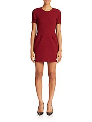 The Kooples Cover Flower Dress Burgundy