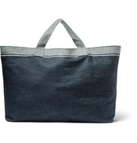 Cleverly Laundry Two Tone Denim Bag Blue