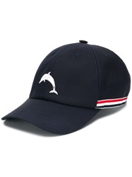 Thom Browne Dolphin Embroidered Baseball Cap 60