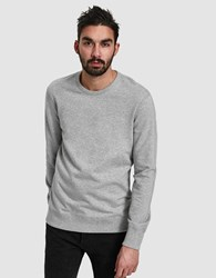 Reigning Champ Core Crewneck In Heather Grey