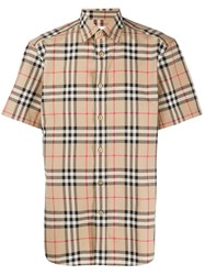 Burberry Check Pattern Shirt Neutrals