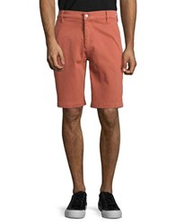 7 For All Mankind Cotton Blend Chino Shorts Red Earth