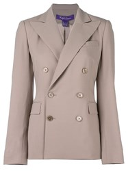 Ralph Lauren Double Breasted Blazer Nude Neutrals