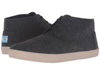 Toms Paseo Mid Grey Herringbone Men's Lace Up Casual Shoes Gray