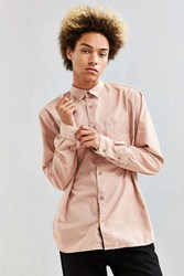 Urban Outfitters Uo Fuzzy Flannel Button Down Shirt Rose