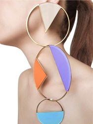 Sylvio Giardina Collezione Three 3 Big Circle Earrings