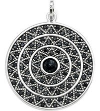 Thomas Sabo Zig Zag Sterling Silver And Onyx Pendant