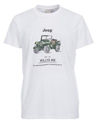 Jeep Car Graphic T Shirt White