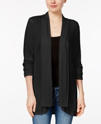 Style And Co Petite Open Front Cardigan Only At Macy's Deep Black