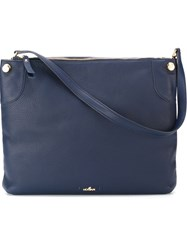 Hogan Top Zip Shoulder Bag Blue