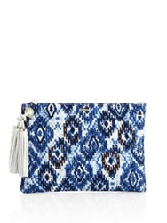 Melissa Odabash Marrakesh Canvas Clutch Ikat