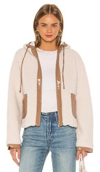 Lovers Friends Ziggy Coat In Ivory. Toasted Almond