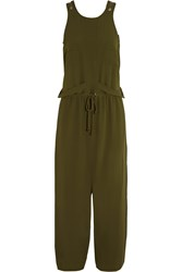 M Missoni Crepe Wide Leg Jumpsuit Green
