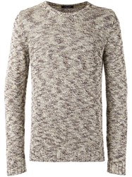 Roberto Collina Tweed Jumper Nude Neutrals