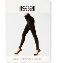 Wolford Velvet Sensation Leggings Monument