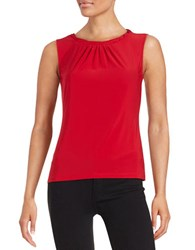 Tahari By Arthur S. Levine Petite Knotted Shell Red