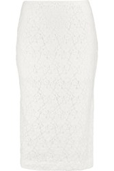 Derek Lam 10 Crosby By Cotton Blend Lace Skirt White