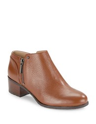 Karl Lagerfeld Natalie Leather Ankle Boots Chestnut
