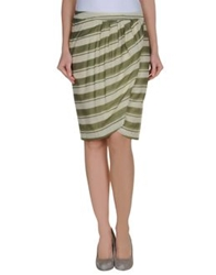 By Malene Birger Knee Length Skirts Military Green