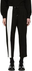 Diet Butcher Slim Skin Black And White Bold Lined Lounge Pants