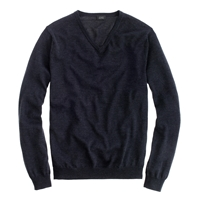 J.Crew Merino Wool V Neck Sweater Hthr Ebony