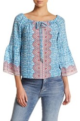 Nanette Lepore Fancy Find Silk Blouse Blue