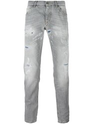 Dolce And Gabbana Ripped Detail Jeans Grey