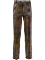 Missoni Checked Tailored Trousers Brown
