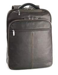 Kenneth Cole Reaction Columbia Leather Backpack Brown