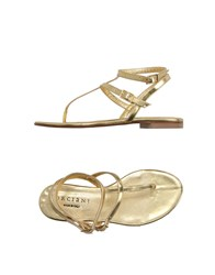 Orciani Footwear Thong Sandals Women Gold