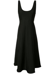 Tibi Flared Sleeveless Dress Black