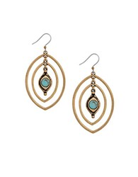 Lucky Brand Heritage Holiday Turquoise Double Drop Earrings