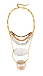 David Aubrey Melissa Statement Necklace Gold Multi