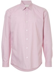 Cerruti 1881 Micro Check Print Shirt Pink And Purple