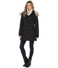 Jessica Simpson Polybonded With Faux Fur Black Women's Clothing