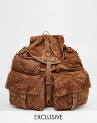Reclaimed Vintage Oversized Military Backpack Green
