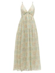 Loup Charmant Adelaide Floral Print Organic Cotton Dress Green