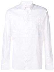 Les Hommes Pleated Shirt White