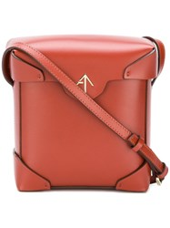 Manu Atelier Mini Pristine Bag Red