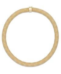 Macy's Mesh Collar Necklace In 14K Vermeil Over Sterling Silver
