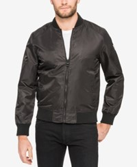 Guess Men's Wind And Water Resistant Bomber Jacket Black