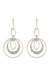 Lois Hill Sterling Silver Multi Round Oval Ring Earrings No Color