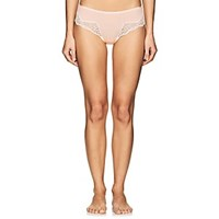 Zimmerli Metro Tropicals Lace Trimmed Stretch Jersey Briefs Light Rose