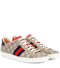 Gucci Ace Gg Supreme Sneakers Beige